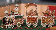 online shopping for The Gingerbread Express Train - Holiday Decor from top store. See new offer for The Gingerbread Express Train - Holiday Decor Gingerbread Train, Gingerbread Christmas Decor, Gingerbread Village, Gingerbread Decorations, Decoration Christmas, Christmas Train, Christmas Home, Christmas Cookies, Christmas Crafts