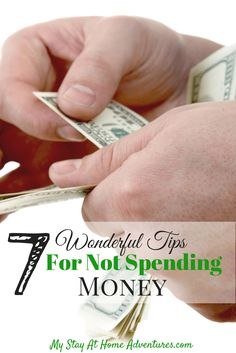 Tips For Not Spending Money - Not only do I have Tips For Not Spending Money, I have 7 Wonderful Tips For Not Spending Money that will motivate you not to spend.