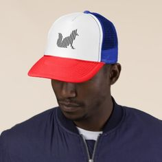 Fox silhouette on stripes trucker hat  $16.75  by Divotomezove  - cyo diy customize personalize unique