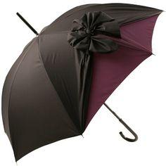 Chantel Thomass Umbrella in Black and Plum