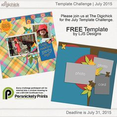 Quality DigiScrap Freebies: Template freebie from LJS Designs