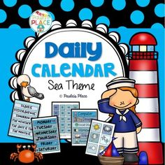 Most Popular Teaching Resources: Daily Calendar - Sea Theme