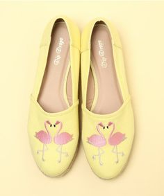 FLAMINGO~yellow flamingo shoes