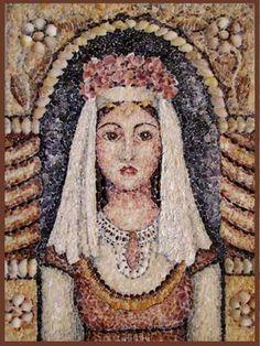 Seashell mosaic, Valentina Sheitanova, Lazarka.