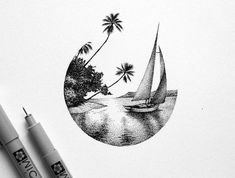 There is another craze is to draw patterns, flowers, mandala patterns in ink. You can say this is like adult drawing at its best! Ink Pen Drawings, Easy Drawings, Animal Drawings, Summer Drawings, Drawing Animals, Stippling Art, Desenho Tattoo, Plant Drawing, Black And White Drawing