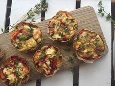 Glutenvrije mini quiches met geitenkaas en tijm