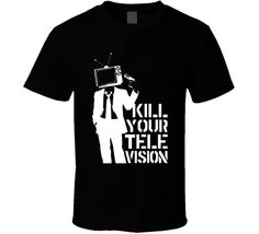Kill Your Television T-shirt Kill Tv Tee by TheVisibleImage