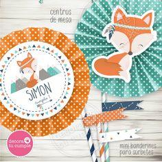 Wild Ones, Tweety, First Birthdays, Baby Shower, Free Printables, Scrapbook, Crafts, Kid Art, Fox Party