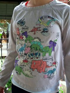 Vintage Funny Jurassic Park Juniors Size Small by VintyThreads, $17.11