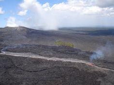 volcan de Puu oo coulee de lave
