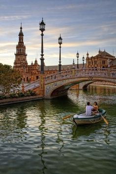 Plaza de España, Sevilla, Spain - I can picture myself in that boat with a glass of sangria in hand! #monogramsvacation