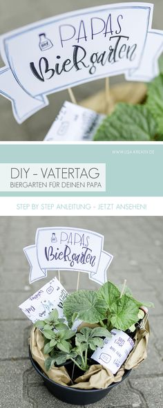 DIY gift idea for Father's Day. The perfect gift for your Papa Papas beer garden – planting basket with beer bottle and voucher DIY gift idea for Father's Day. The perfect gift for your Papa Papas beer garden – planting basket with beer bottle and voucher Diy Christmas Gifts For Boyfriend, Diy Gifts For Girlfriend, Diy Gifts For Dad, Diy Gifts For Friends, Diy Presents, Boyfriend Gifts, Christmas Diy, Birthday Gift For Him, Birthday Diy