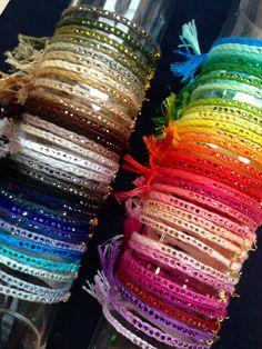 #filodistelle 60colors of bracelets!  www.muahbijoux.bigcartel.com