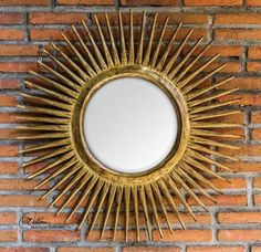 Wake up your room with our Handcarved Wooden Sunburst Mirror. http://www.myswankyhome.com/hand-carved-wood-sunburst-mirror/