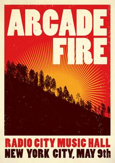 Arcade Fire concert poster art, Arcade Fire poster print, music inspired print…