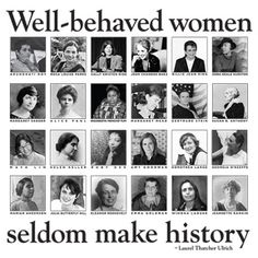 I love this and I want one for my room, but I don't like of the women on here and there are literally TONS of women I would have rather seen on here than the ones that they chose -- Well-Behaved Women Poster Jeannette Rankin, Winona Laduke, Alice Paul, Maya Lin, Margaret Sanger, Susan B Anthony, Zora Neale Hurston, Joan Baez, Women Poster