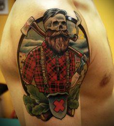 Death Lumberjack tattoo