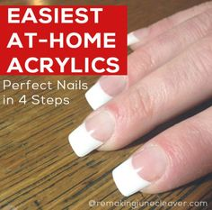 easiet diy acrylic nails