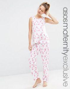 ASOS Maternity Flamingo Pajama Tank and Pants