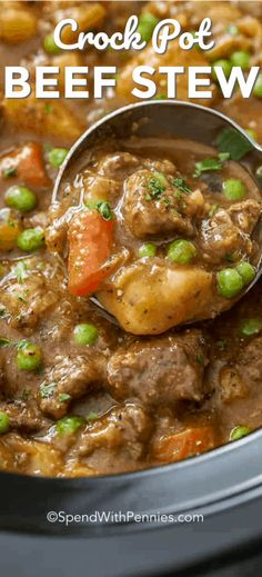Homemade Crockpot beef stew is an easy and flavorful main course that we love pulling our slow cooker out for. It's one of my favorite stew recipes ever! More from my siteBeef Stew Crockpot Recipe Crockpot Dishes, Crock Pot Cooking, Beef Dishes, Crock Pot Stew, Beef Stew Crockpot Recipe, Slowcooker Beef Stew, Crockpot Beefstew, Beef Bourguignon, Chocolate Chip Cookies Rezept