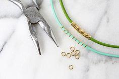 Easy Skinny Leather Bracelet DIY (3 Ways!) - A Beautiful Mess