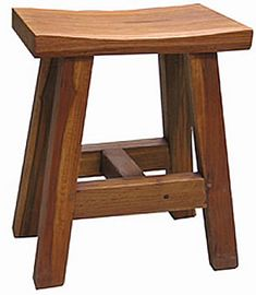 Teak Wood Stool Jav Indonesia