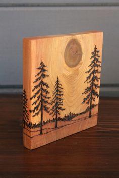 Horizons Art Block Woodburning by TwigsandBlossoms on Etsy