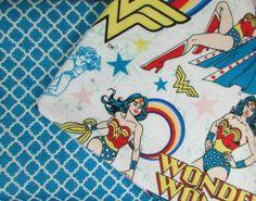 Baby Blanket Handmade Wonder Woman Print Flannel Personalized Blanket Baby Shower Gift Stroller Blanket