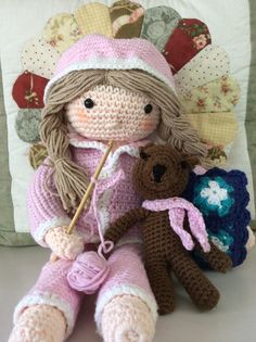 Pj doll and her bear