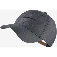 Nike Legacy 91 Oxford Adjustable Golf Hat. Nike.com ($26) ❤ liked on Polyvore featuring accessories, hats, adjustable hats, nike hat and nike