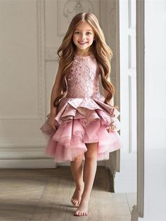 New Arrial Pink Beaded Lace Tulle Wedding Flower Girls Dresses, Pricess Flower Girls Gowns .A Line Girls Gowns .Hand Made Flower Girls Gowns Pricess Girls Gowns .,A Line Party Gowns Toddler Flower Girl Dresses, Baby Dress, The Dress, Dress Girl, Cute Little Girl Dresses, Girl Tutu, Lace Flower Girls, Gown Dress, Fashion Kids