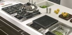 Wolf 15-Inch Integrated Cooktops - eclectic - cooktops - Sub-Zero and Wolf