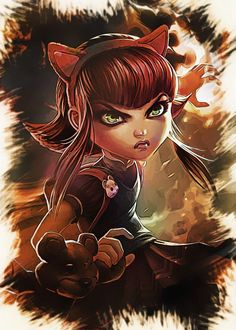League of Legends - ANNIE  League of Legends - ANNIE Gallery quality print on thick 45cm / 32cm metal plate. Each Displate print verified by the Production Master. Signature and hologram added to the back of each plate for added authenticity & collectors value. Magnetic mounting system included.  EUR 41.00  Meer informatie