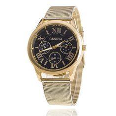 2017 New Fashion Geneva Watches Women Brand Analog Golden Strap Quarzt Watch Dress Casual Wristwatches relogio feminino