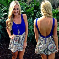 Jet set away in the fun new travel print romper and have the time of your life! Romper ($34.99) now available online and in store at #sophieandtrey! www.sophieandtrey.com #onlineshopping #instore #print #openback #romper #playsuit