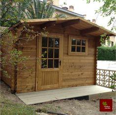Caseta de madera de 9 27 m2 bourg ref 15554252 leroy for Caseta jardin leroy merlin