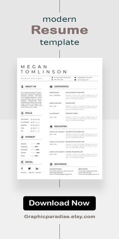 Creative Resume | Teacher Resume | Word Resume | Instant Download #resumeasy #resumensemanal #resumeninteligente #resumch