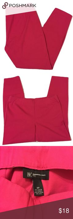 INC International Concepts Pink Pants 8P petite INC International Concepts pants Color: Pink hue similar to Hot Pink/wild berry pink Size:  8P petite Good condition- only wore twice  Total length is about 35 inches. Please see last pic with measuring tape. Questions? Please ask prior to purchasing. INC International Concepts Pants