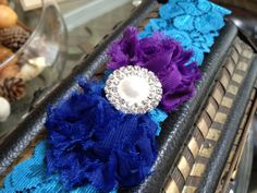 Peacock Garter with Custom Center by LolaBridalDesigns on Etsy, $12.00