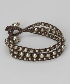 Take a look at this Brown & Silver Bead Rope Bracelet by PANNEE JEWELRY on #zulily today!