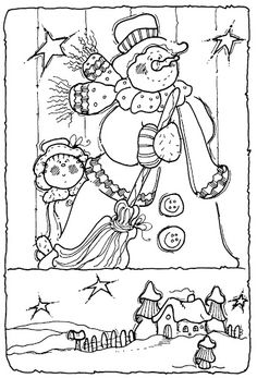 Creative Haven An Old Fashioned Christmas Coloring Book 5 Sample