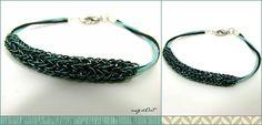 Men's collection double weave blue black wire