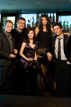 Neil Patrick Harris, Alyson Hannigan, Jason Segel, Josh Radnor and Cobie Smulders in How I Met Your Mother