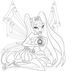 Enchantix Winx Club Coloring Picture For Kids