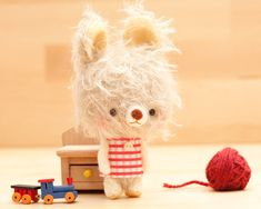 bunny plush toy  made to order Lia by knittingdreams on Etsy, $38.00