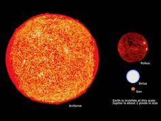 Rigel, Aldebaran, Arcturus, Pollux, Sirius, Jupiter ...
