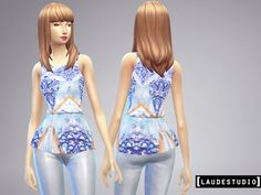 SET - 3 Blouse Peplum #SIMS 4 - [laudestudio]  • This Set have 3 new blouses (peplum style); • All are re-textures of the original top from the game; • All the textures are based in real clothes and...