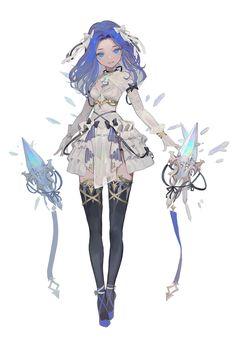 Anime Girl Cute, Beautiful Anime Girl, Anime Art Girl, Manga Girl, Fantasy Character Design, Character Drawing, Character Design Inspiration, Character Illustration, Cute Characters