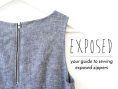 Exposed zips are a good way to add extra detail to a garment, especially when the zip is too cute to hide or if you want a more edgy look. While we're going to show you how to sew an exposed zipper using our Starboard Jeans pattern, the technique is the same regardless of the garment. So feel free t
