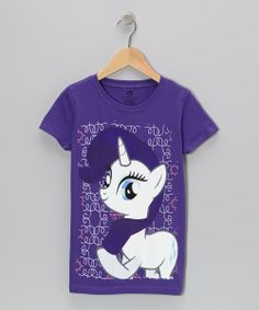 Purple Rarity My Little Pony Tee - Girls   Daily deals for moms, babies and kids